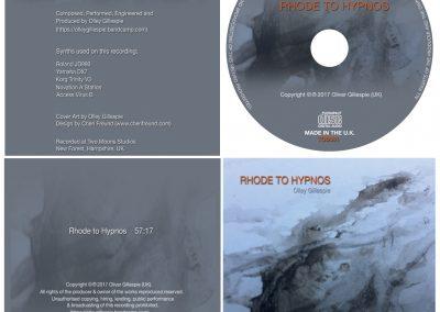 Olley Gillespie – Rhode to Hypnos (Album Design)
